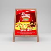 Restauracja wyżywienie włoskie jedzenie 3d model