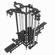 Cable Station Technogym crossover gym 3d model