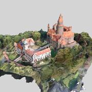 Bouzov slott 3d model
