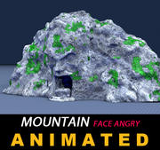 Mountain Face Angry 3d model