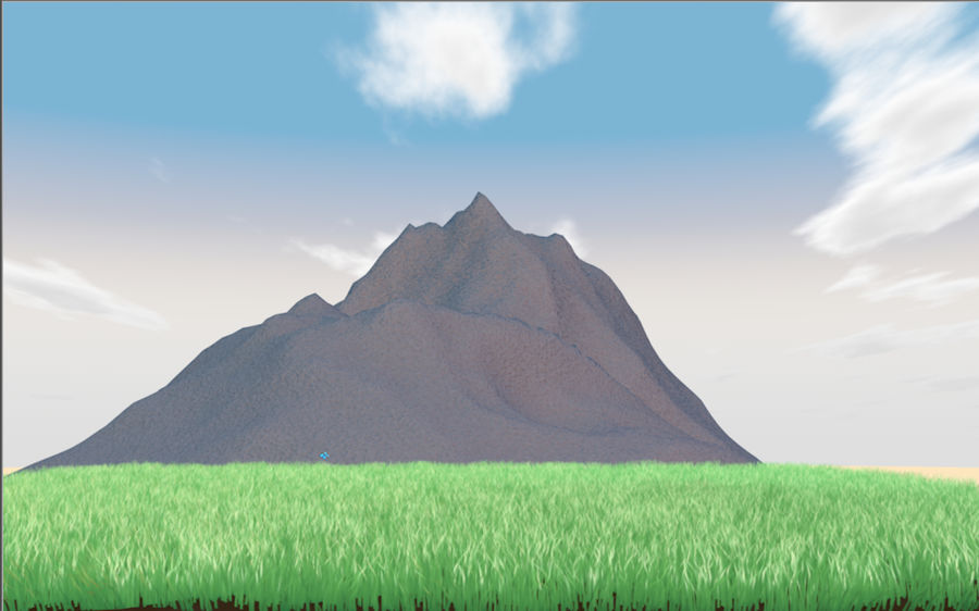 Mountain Landscape royalty-free 3d model - Preview no. 1
