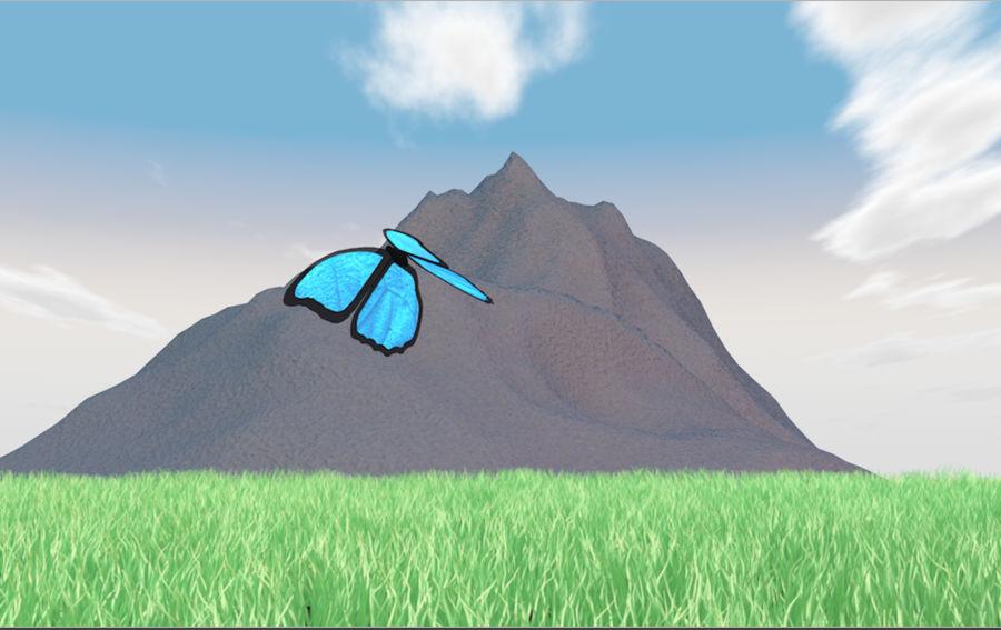 Mountain Landscape royalty-free 3d model - Preview no. 2