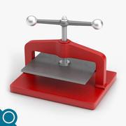 Manuelles Papier Drücken Sie 3d model