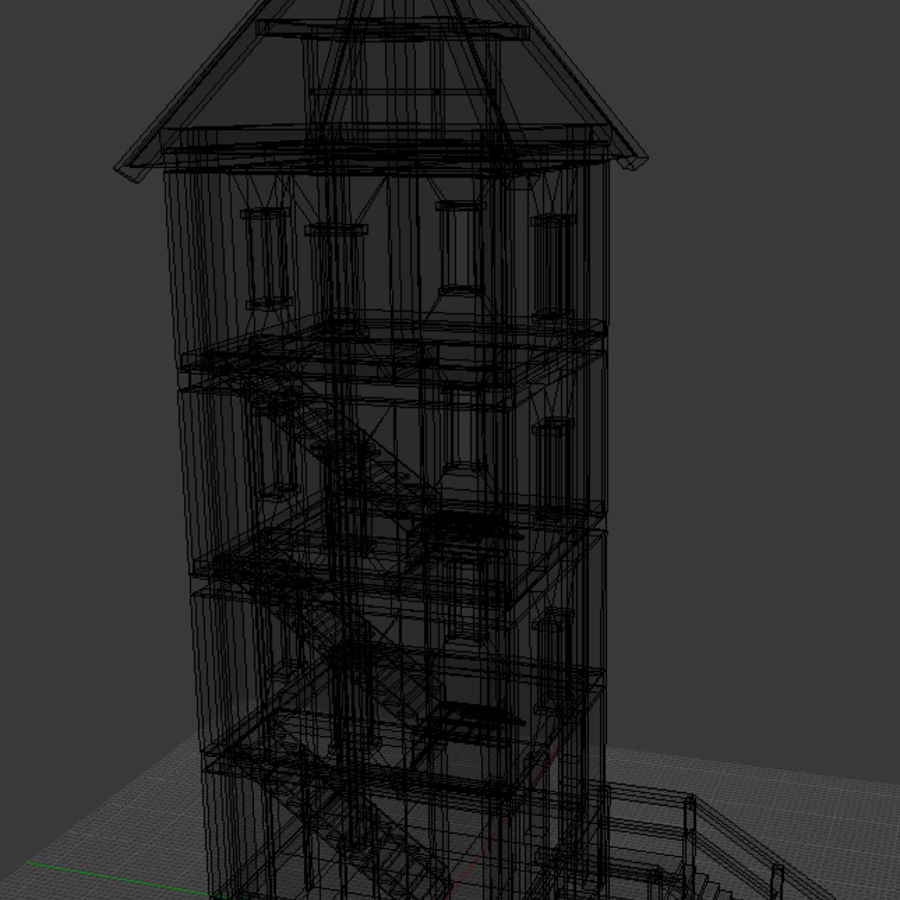 watch tower royalty-free 3d model - Preview no. 12