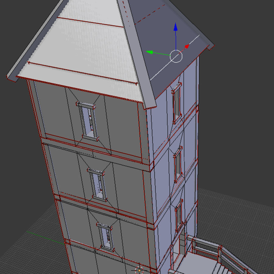 watch tower royalty-free 3d model - Preview no. 11
