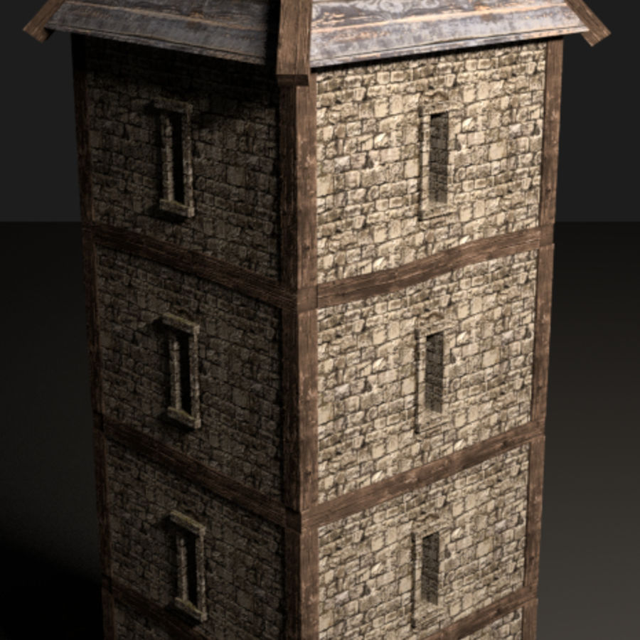 watch tower royalty-free 3d model - Preview no. 4