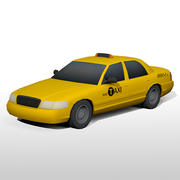 Low Poly NYC Taxi Cab 3d model