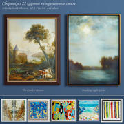 The collection of contemporary paintings set-8 3d model