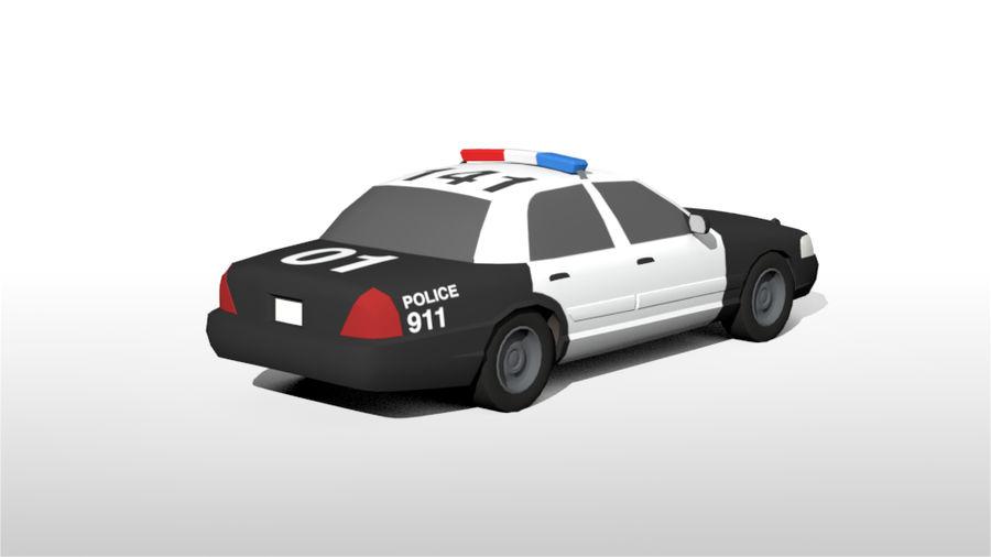 Låg poly LAPD polisbil royalty-free 3d model - Preview no. 6