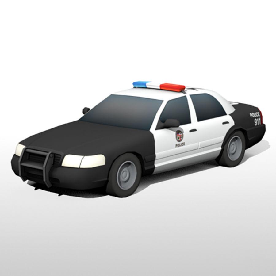 Låg poly LAPD polisbil royalty-free 3d model - Preview no. 1