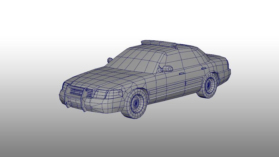 Låg poly LAPD polisbil royalty-free 3d model - Preview no. 4