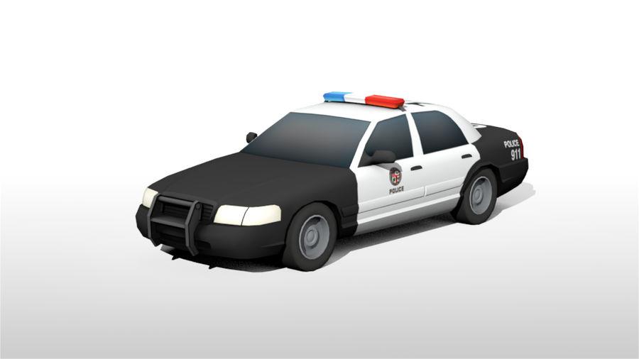 Låg poly LAPD polisbil royalty-free 3d model - Preview no. 2