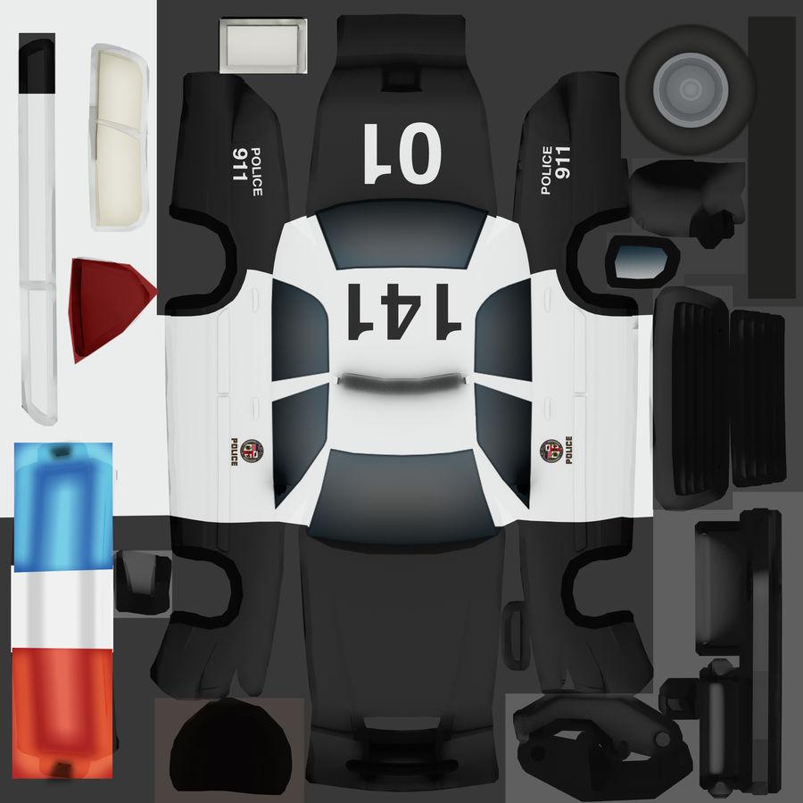 Låg poly LAPD polisbil royalty-free 3d model - Preview no. 9