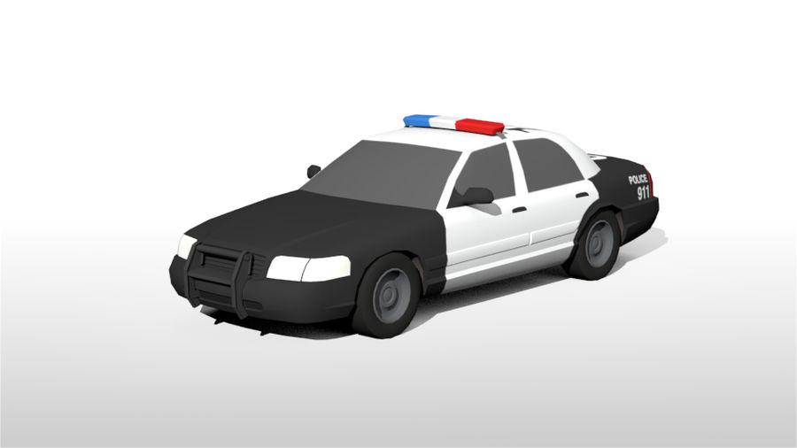 Låg poly LAPD polisbil royalty-free 3d model - Preview no. 3