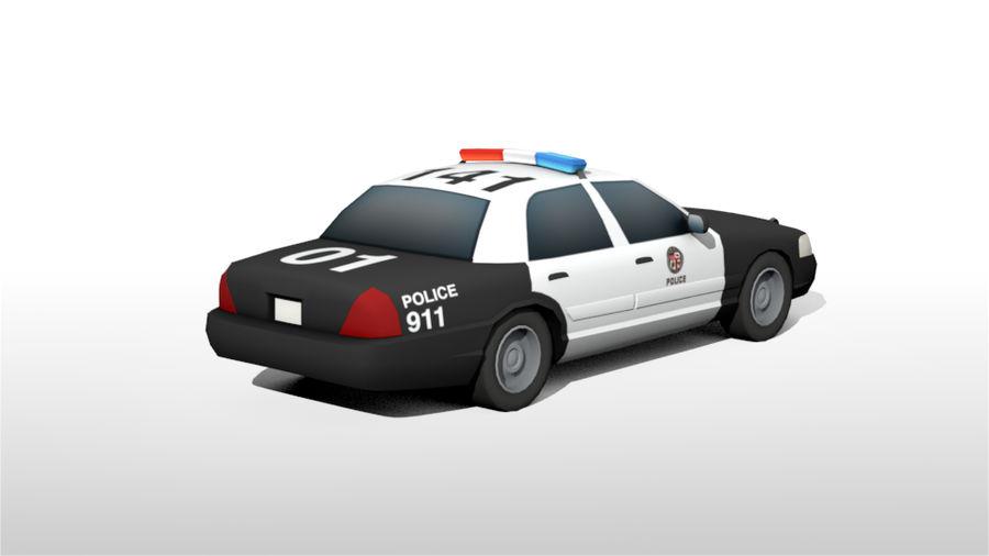 Låg poly LAPD polisbil royalty-free 3d model - Preview no. 5