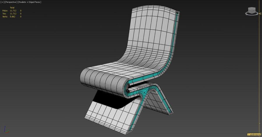 Nowoczesne krzesło royalty-free 3d model - Preview no. 6