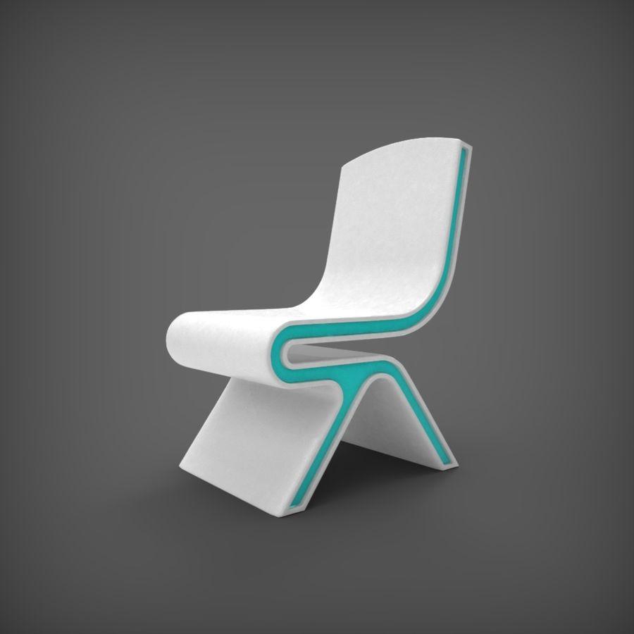 Nowoczesne krzesło royalty-free 3d model - Preview no. 1