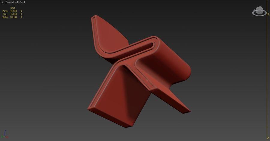 Nowoczesne krzesło royalty-free 3d model - Preview no. 10