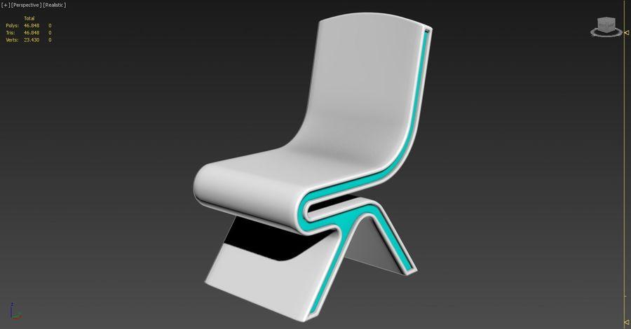 Nowoczesne krzesło royalty-free 3d model - Preview no. 3