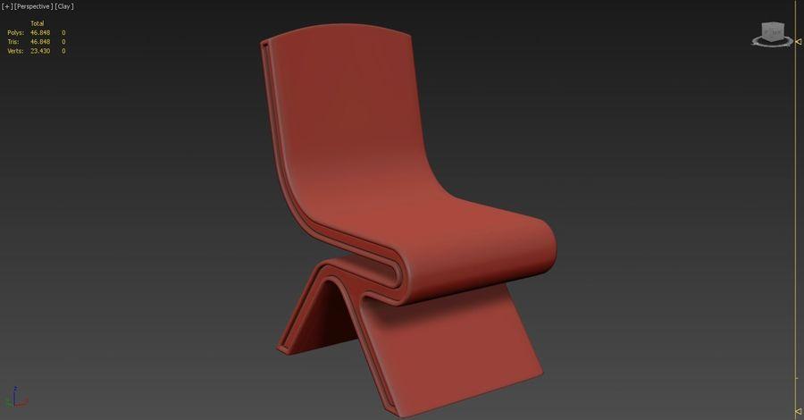Nowoczesne krzesło royalty-free 3d model - Preview no. 8