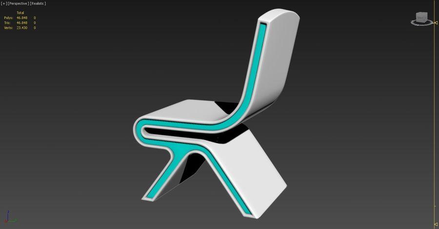 Nowoczesne krzesło royalty-free 3d model - Preview no. 4