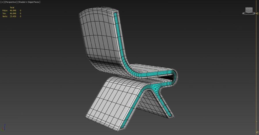 Nowoczesne krzesło royalty-free 3d model - Preview no. 11