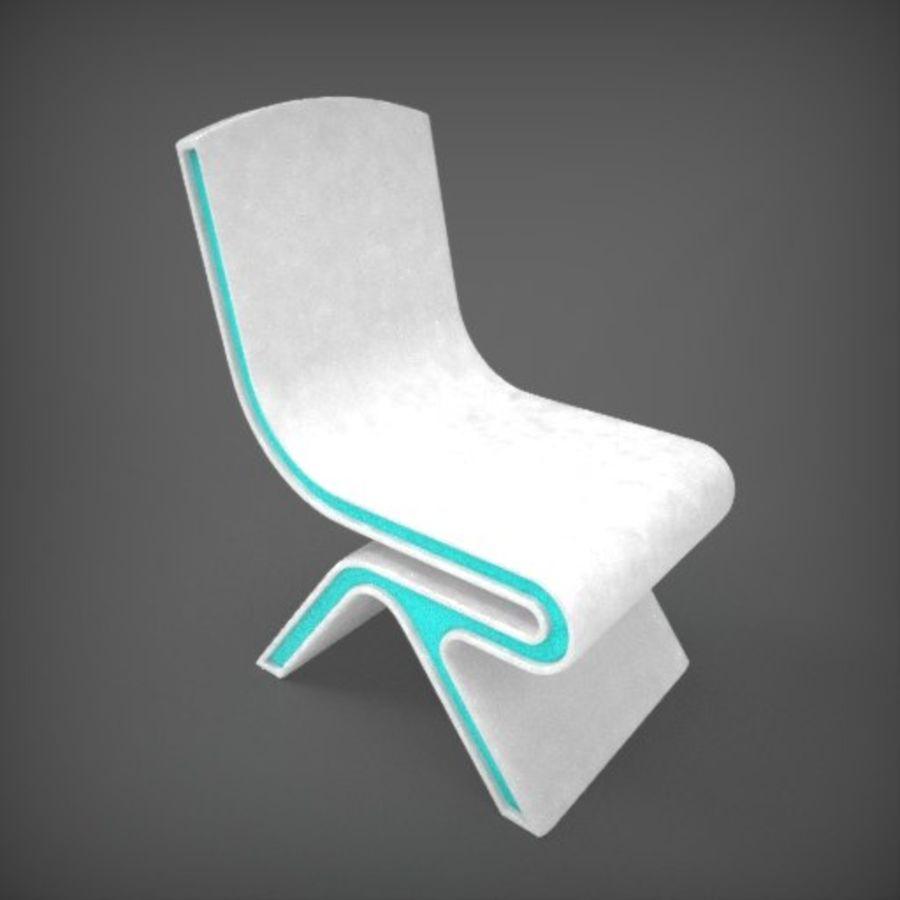 Nowoczesne krzesło royalty-free 3d model - Preview no. 2
