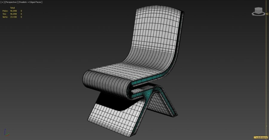 Nowoczesne krzesło royalty-free 3d model - Preview no. 7
