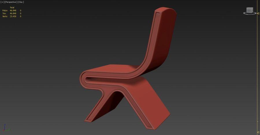 Nowoczesne krzesło royalty-free 3d model - Preview no. 9