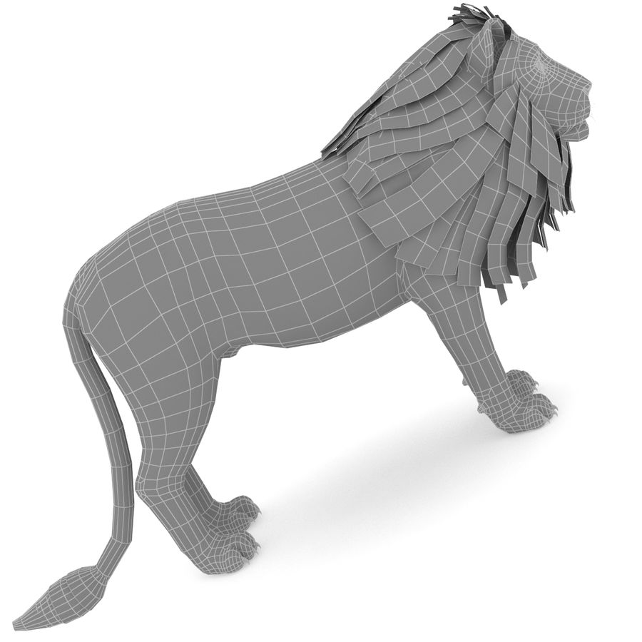 Lion Low Poly royalty-free 3d model - Preview no. 6