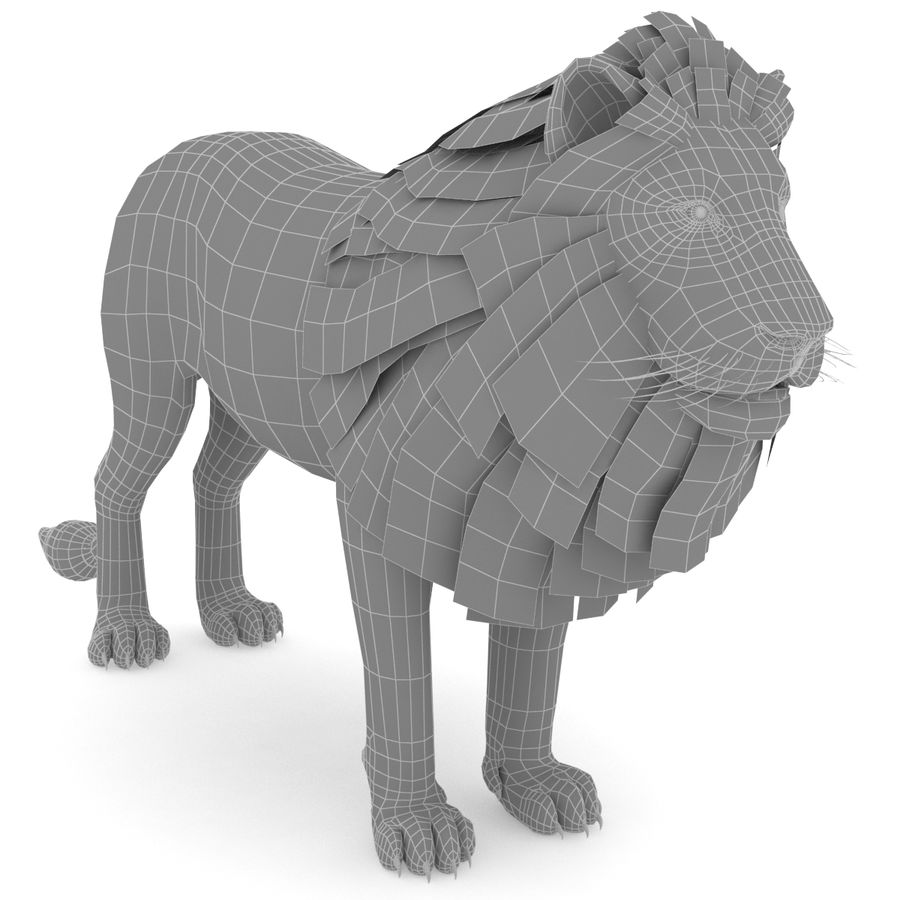 Lion Low Poly royalty-free 3d model - Preview no. 5