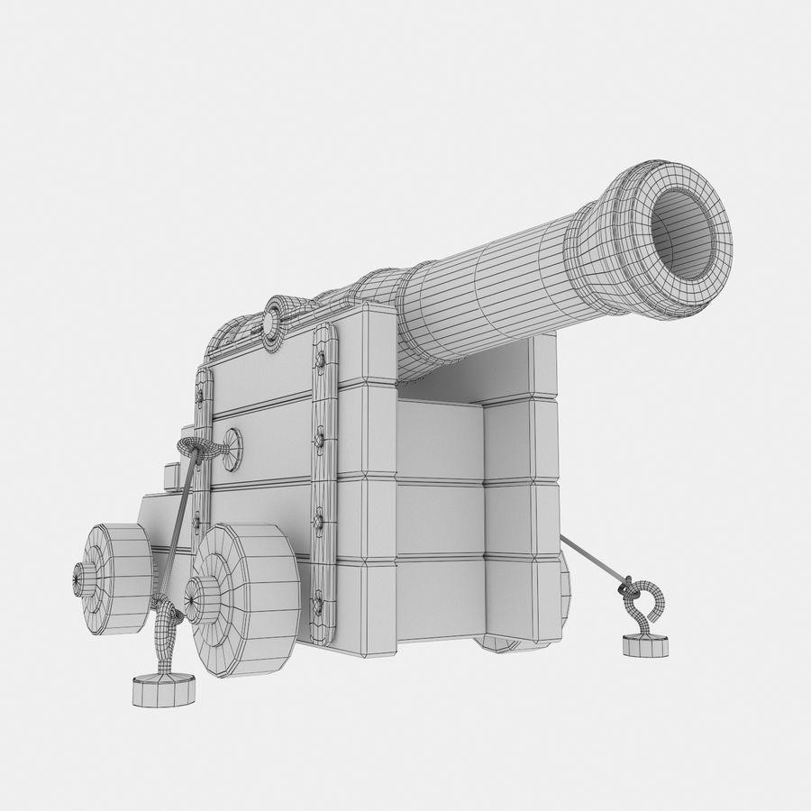 古代の大砲 royalty-free 3d model - Preview no. 2