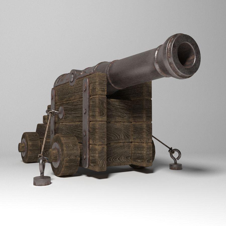 古代の大砲 royalty-free 3d model - Preview no. 1