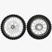 Dirt Motorcycle Wheels 3d model