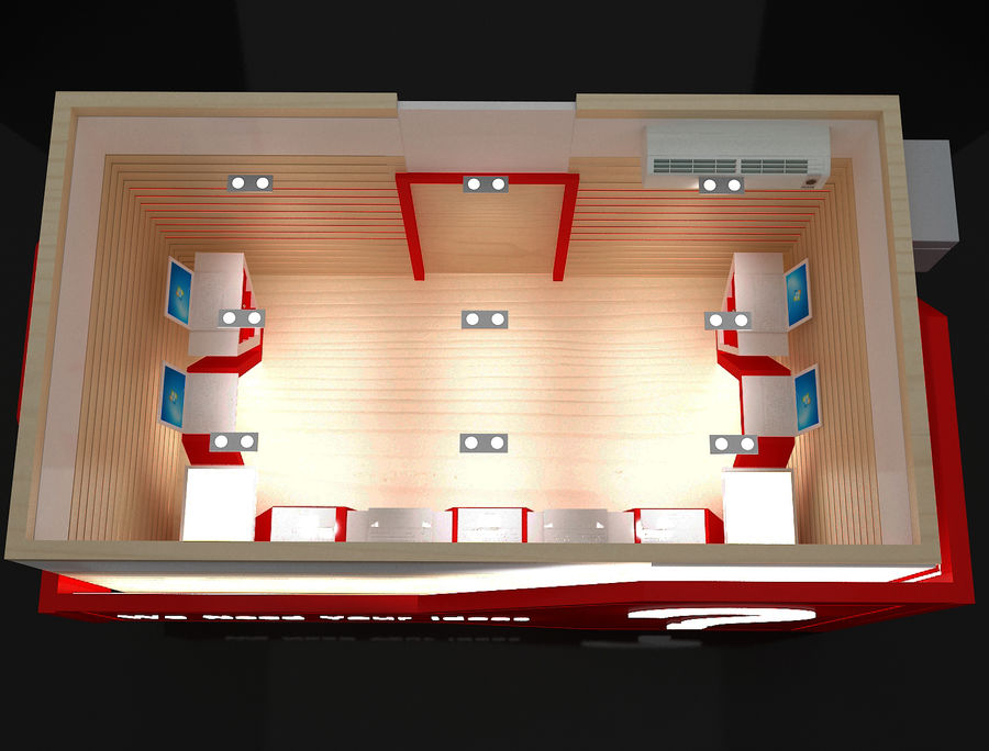 Booth Exhibition Stand a116 royalty-free 3d model - Preview no. 5