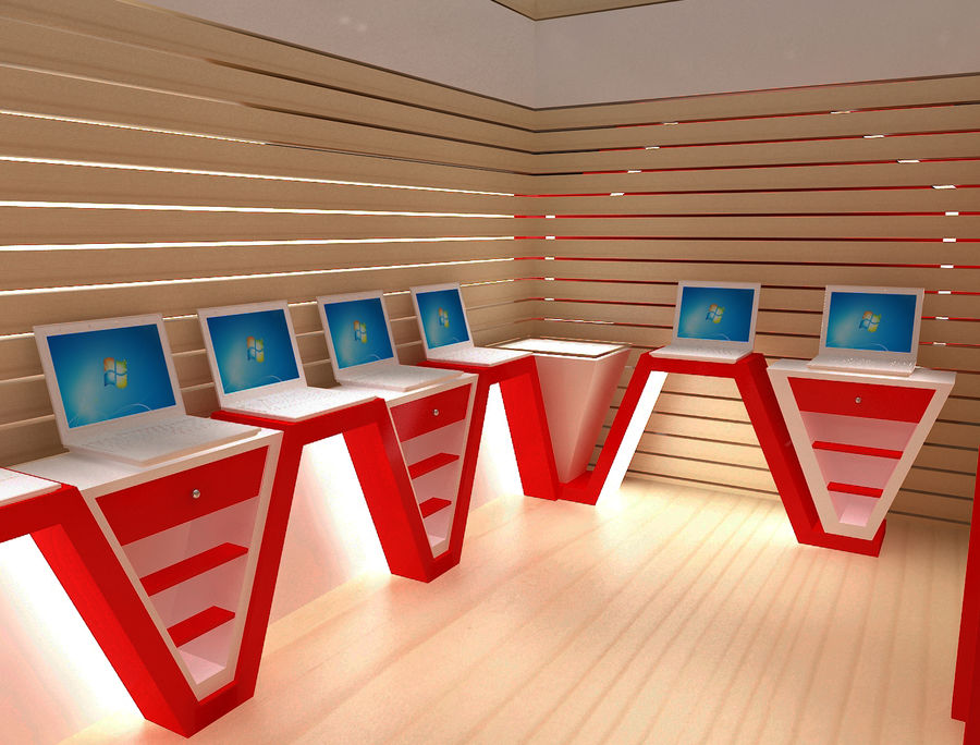 Booth Exhibition Stand a116 royalty-free 3d model - Preview no. 11