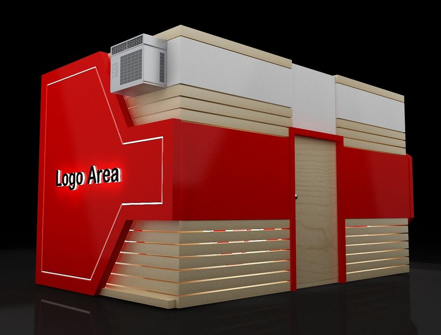 Booth Exhibition Stand a116 royalty-free 3d model - Preview no. 9