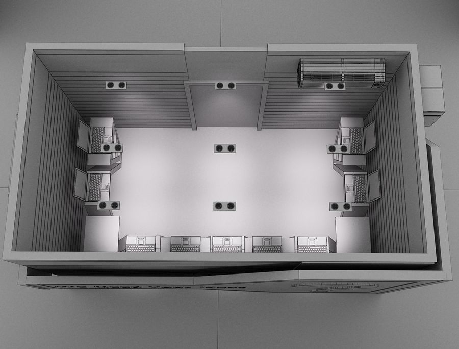 Booth Exhibition Stand a116 royalty-free 3d model - Preview no. 6