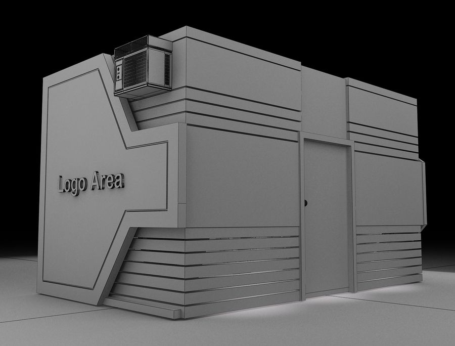 Booth Exhibition Stand a116 royalty-free 3d model - Preview no. 8
