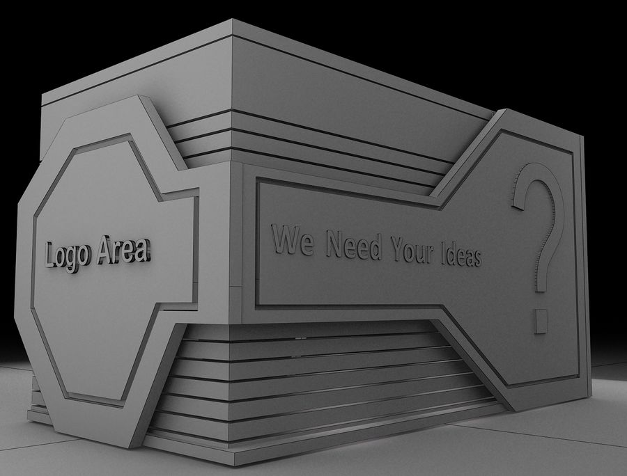 Booth Exhibition Stand a116 royalty-free 3d model - Preview no. 2