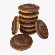 Realistico biscotto al cioccolato con ripieno 3d model