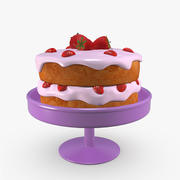 Ciasto Z Truskawkami 3d model