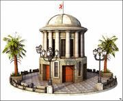 Dome Square 3d model