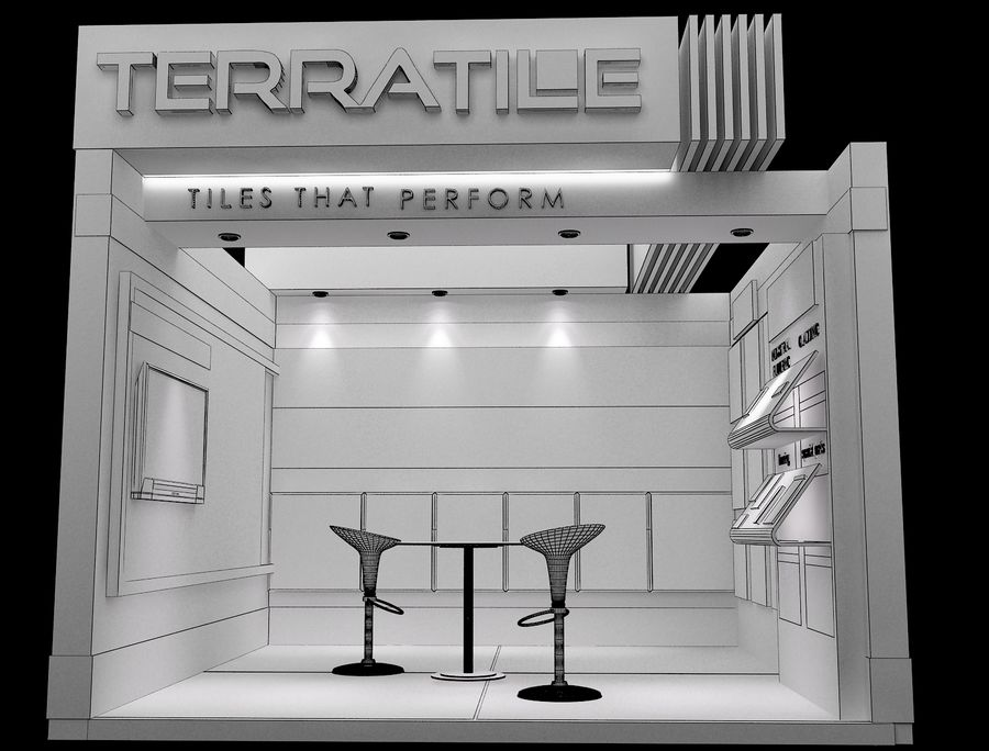 Booth Exhibition Stand a104 royalty-free 3d model - Preview no. 8