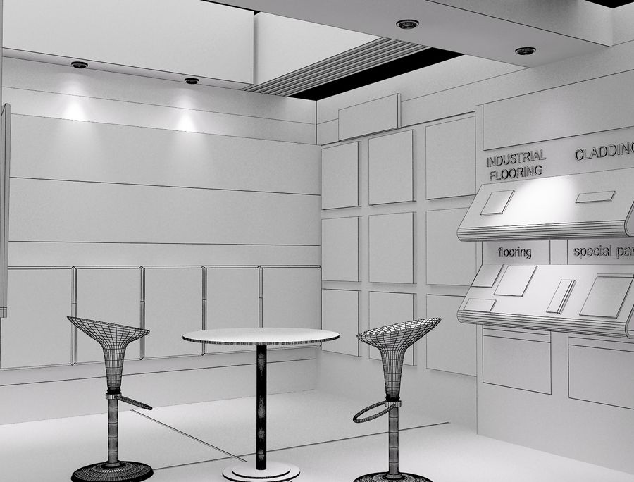 Booth Exhibition Stand a104 royalty-free 3d model - Preview no. 4