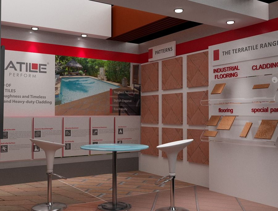 Booth Exhibition Stand a104 royalty-free 3d model - Preview no. 3