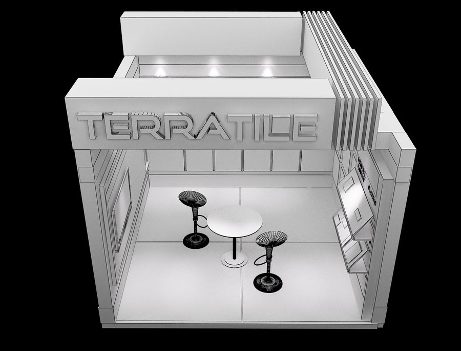 Booth Exhibition Stand a104 royalty-free 3d model - Preview no. 6