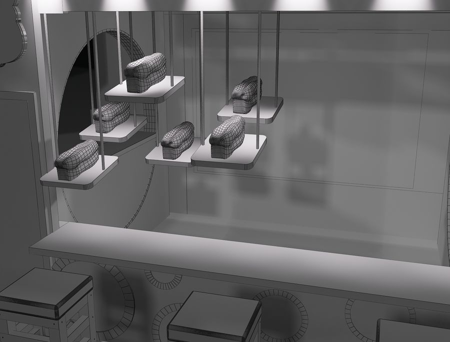 Booth Exhibition Stand a103 royalty-free 3d model - Preview no. 15