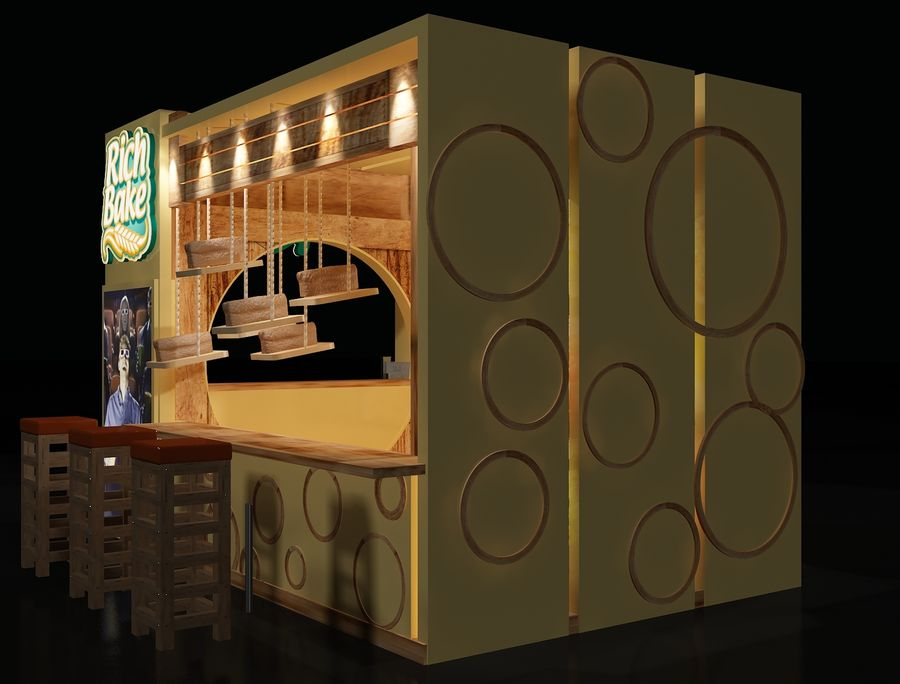 Booth Exhibition Stand a103 royalty-free 3d model - Preview no. 3