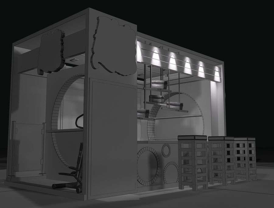 Booth Exhibition Stand a103 royalty-free 3d model - Preview no. 8